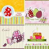 Template Easter greeting card, vector Stock Images