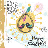 Template Easter greeting card, vector illustration Royalty Free Stock Images