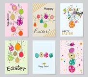 Template Easter greeting card, vector illustration Stock Photos