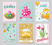 Template Easter greeting card, vector illustration Royalty Free Stock Image