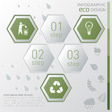 Template eco nature infographic. icon and steps. Template eco nature infographic or website layout. infographic elements with icon and steps Royalty Free Stock Photo