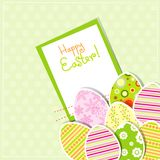 Template egg greeting card Stock Photography