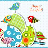 Template egg greeting card Royalty Free Stock Images