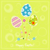 Template egg greeting card Royalty Free Stock Photography
