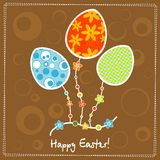 Template egg greeting card Royalty Free Stock Photo
