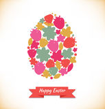 Template for eggs design. Easter decoration with cute floral shapes. Very easy to use Royalty Free Stock Photos