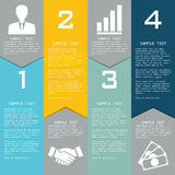 Template with elements for business presentations. Stock Photos