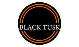Template Emblem Blank Black Tusk. Logo Design Vector stock illustration