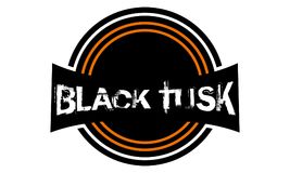 Template Emblem Blank Black Tusk. Logo Design Vector royalty free illustration