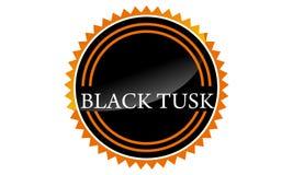 Template Emblem Blank Black Tusk. Logo Design Vector vector illustration