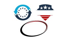 Template Emblem Blank Set. Vector Royalty Free Stock Photography
