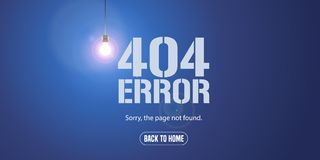 Template 404 error page vector illustration. Banner with not found message. Mistake warning text background for website error 404 concept creative design Stock Illustration
