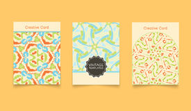 Template ethnic creative cards Royalty Free Stock Image