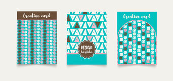 Template ethnic creative cards. Stock Images