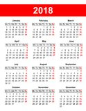European calendar grid in vector Royalty Free Stock Photography