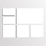 Template für Geschäftsgestaltungsarbeiten Stockbilder