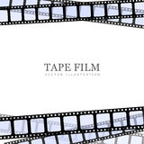 Template film roll. Vector realistic illustration of film strip on white background. Template film roll Royalty Free Stock Photo