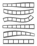 Template film roll. Vector realistic illustration of film strip on white background. Template film roll Stock Photo