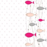 Template with fish. Vector Illustration Stock Image
