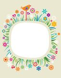 Template with floral border - 3 Stock Photos