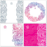 Template with floral ornament Royalty Free Stock Photo