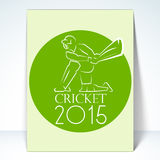 Template, flyer or brochure for Cricket 2015. Stock Photography