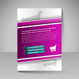 Template of flyer for business brochures, presentations, website Royalty Free Stock Image
