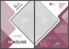 Template of a Flyer with a Geometrical Diamonds Royalty Free Stock Images