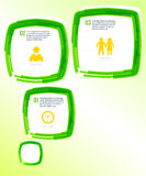 Template-flyer-green-bubble-effect-paint-brush Stock Image
