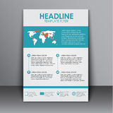 Template flyer with information for advertising Royalty Free Stock Photo