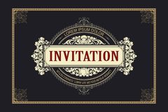 Template flyer, invitations or greeting cards. Vector template flyer, invitations or greeting cards royalty free illustration