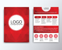 Template flyer with polygonal background Royalty Free Stock Photo