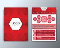 Template flyer with polygonal background Royalty Free Stock Images
