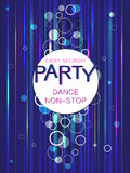 Template flyer poster colorful pattern on a dark background.  Dance party poster. Creative abstract vector background. Template flyer poster colorful pattern on Stock Photography