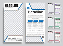 Template flyer size of 210x99 mm. Stock Photo