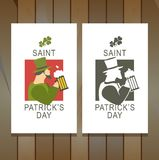 Template flyer St. Patrick's Day Royalty Free Stock Images