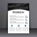 Template A4 flyer in the technical style of advertising and printing Royalty Free Stock Photo