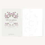 Template for folder, business card and invitation. Template for folder, brochure, business card and birthday invitation royalty free illustration