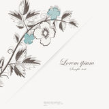 Template for folder, business card and invitation. Template for folder, brochure, business card and birthday invitation Vector Illustration