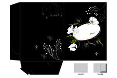 Template for folder design royalty free stock photo