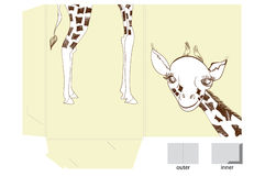 Template for folder with giraffe Royalty Free Stock Photos