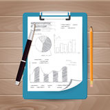 Template of folder with papers Royalty Free Stock Images