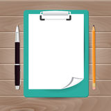 Template of folder with papers Stock Photos