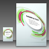 Template folder with round design element Royalty Free Stock Images