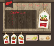 Template for food chicken menu stock illustration