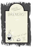 Template For Breakfast Menu Royalty Free Stock Photography