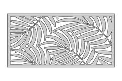 Free Template For Cutting. Palm Leaves Pattern. Laser Cut. Ratio Royalty Free Stock Photos - 107266588