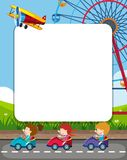 Template frame with amsuement park theme. Illustration stock illustration