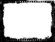 Template frame black and white film. Tape rustic texture. Retro cinema decor background. Stylish image for a variety of design: advertising, decoration, web Stock Images