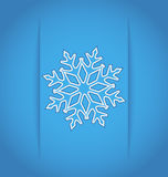 Template frame with christmas snowflake Stock Photo